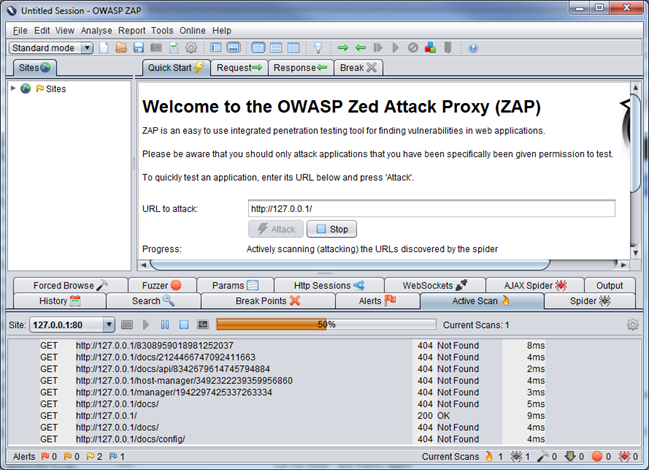 Screenshot: Zed Attack Proxy (ZAP)